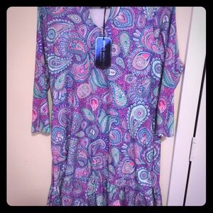 Simply Southern Pink Paisley Dress Sz S